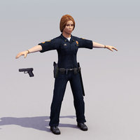 PoliceWoman-A_3DModel