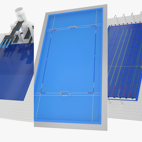 water swimming pools 3d model