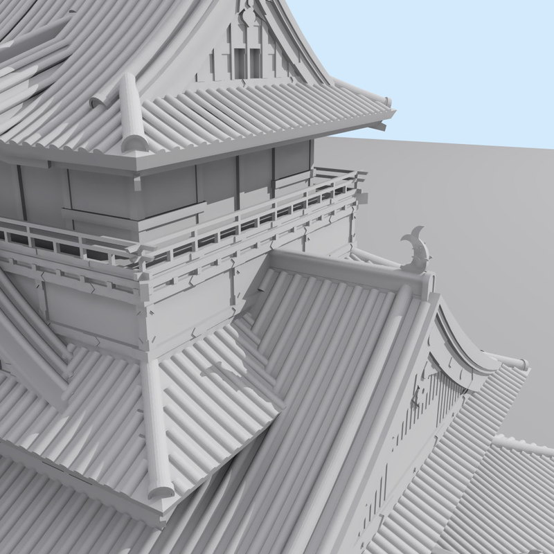 castle japan kumamoto building max