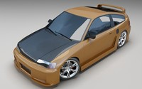 3d model honda crx