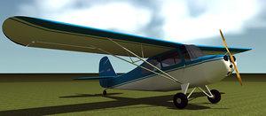 3d model aeronca airplane