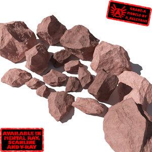max lot rocks stones -