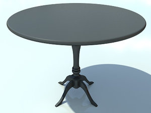 3d 3ds small wooden table max2010