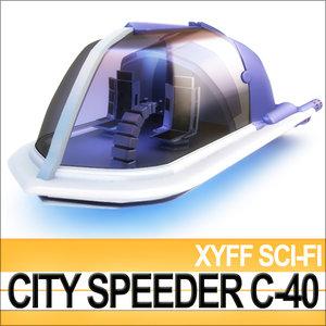 xyff sci-fi city speeder 3ds