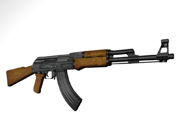ak47 art 3d model