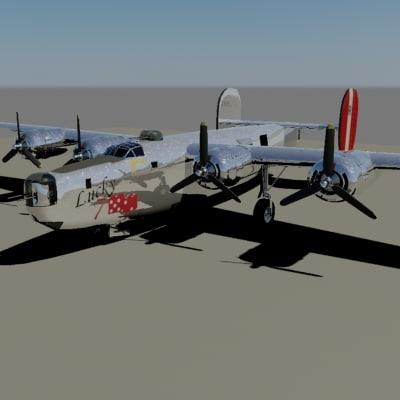 3d model b-24 liberator