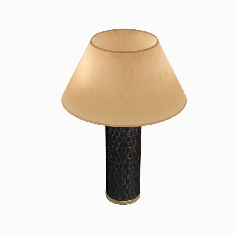 3d baker dowel lamp model