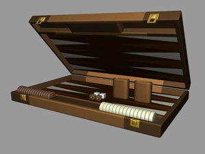 3d backgammon case model
