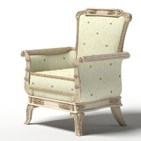 3d classic armchair belloni
