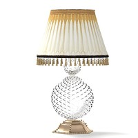 classic glass crystal table lamp