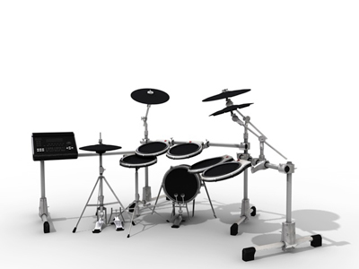 3d drums drumset