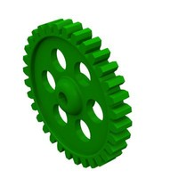 32 tooth gear 3d obj