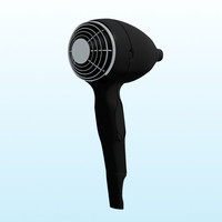 3ds max hairdrier hair drier