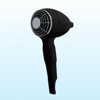 3ds max hairdrier hair drier