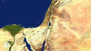 israel maps 3d model
