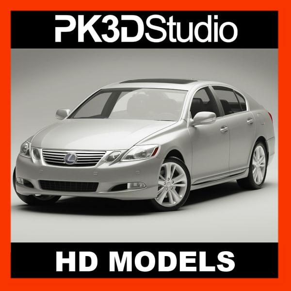 3d model lexus gs 450h 2010