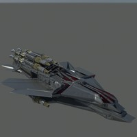 3d model large space ship