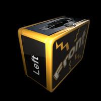 vintage lunchbox 3d model