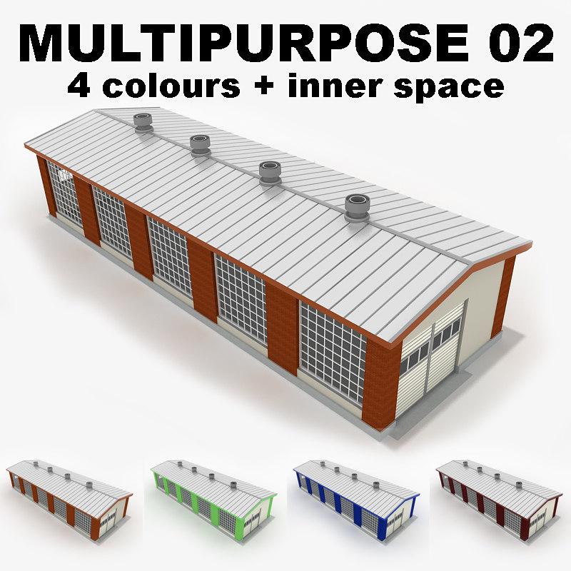 3d multipurpose industrial building 02