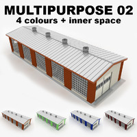 3d multipurpose industrial building 02