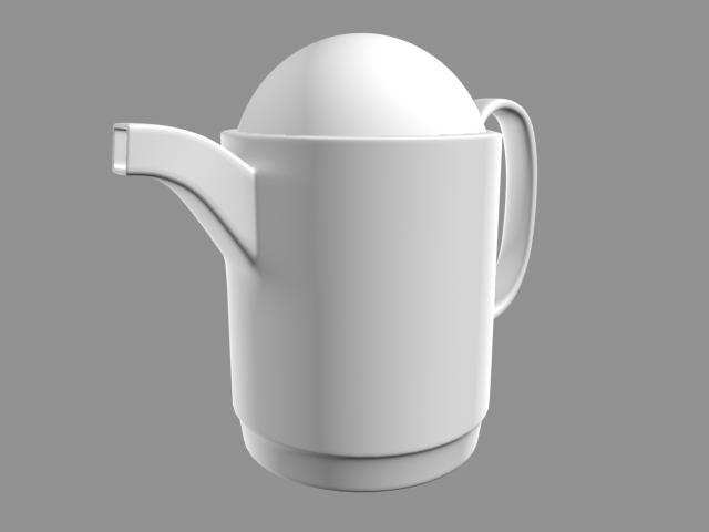 3d model of milk pot