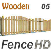 3d model wooden fence gate