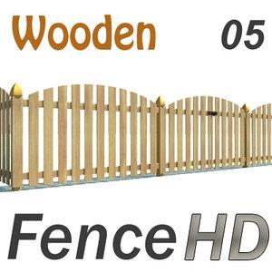 3d model wooden fence gate