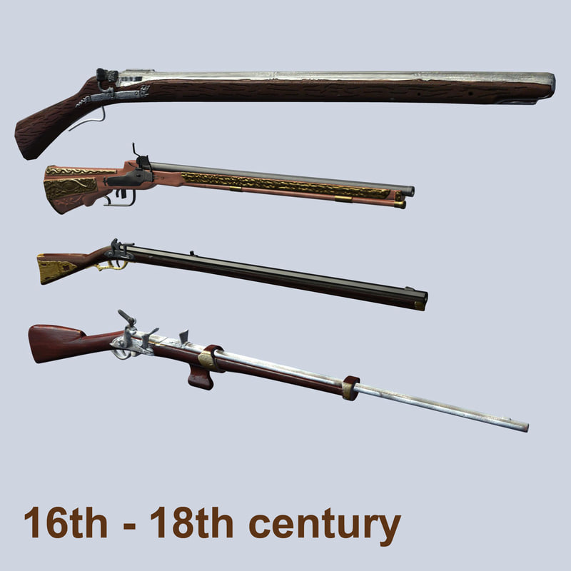 muskete century rifle 3d model