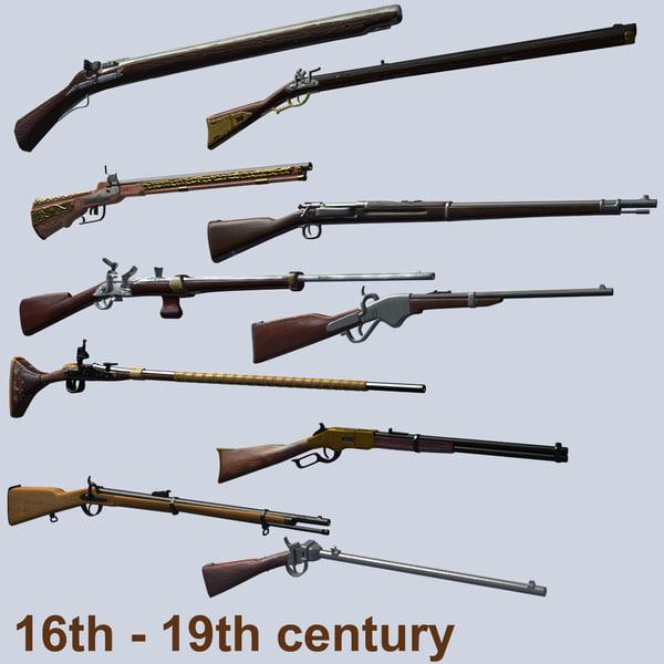rifles centuries obj