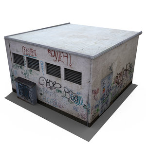 small tagged building 3d model