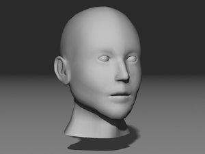 nextgen head 3d obj