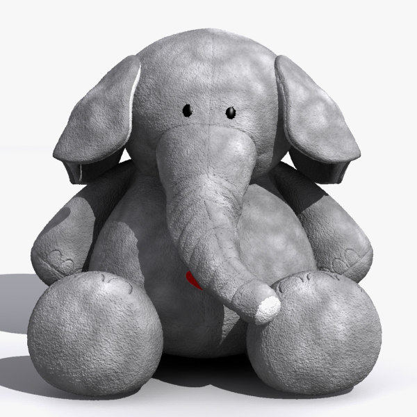 3ds max plush elephant toy
