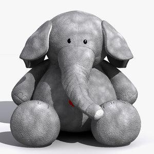 3ds max plush elephant toy