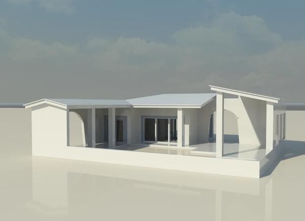 house coast architecture 3d model