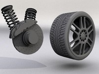 High Detailed Tire + Rim + brakes + suspension ONLY $1!