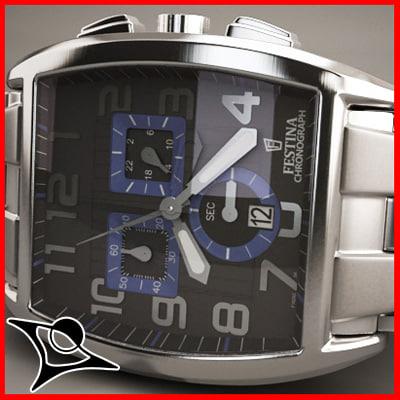 3d model festina watch 5