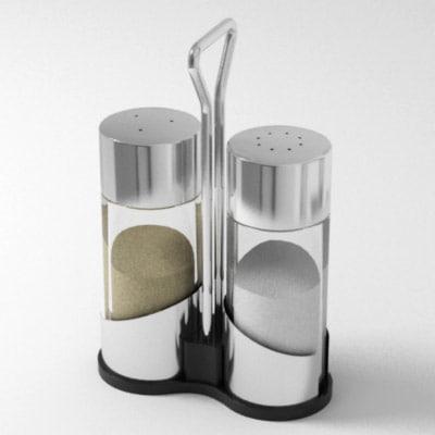 salt pepper 3d model