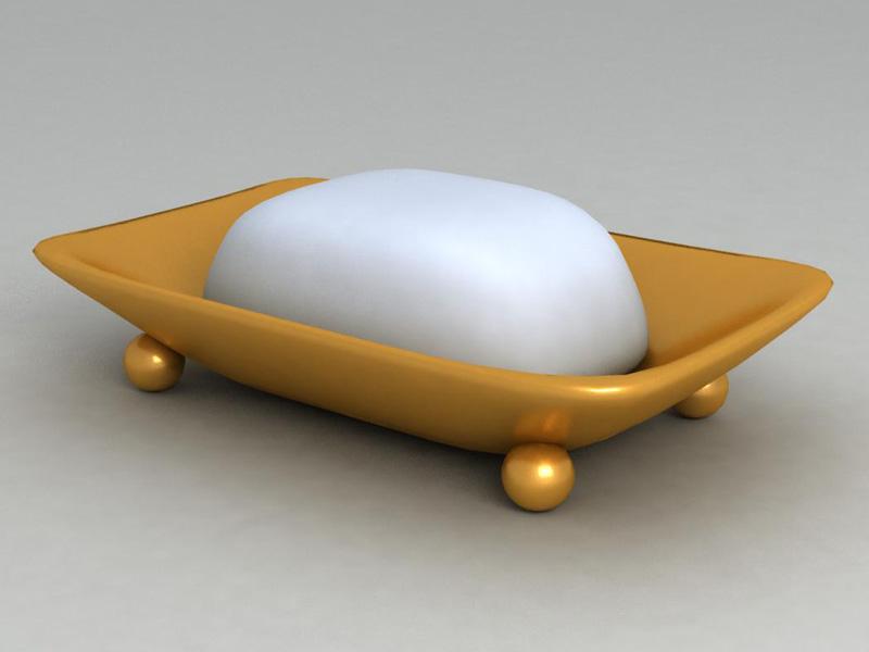 soap dish 3d 3ds