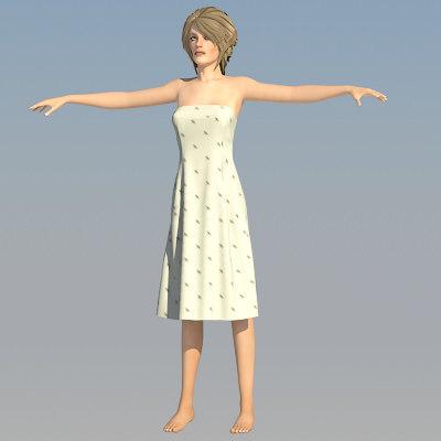 clothes klara 3d model