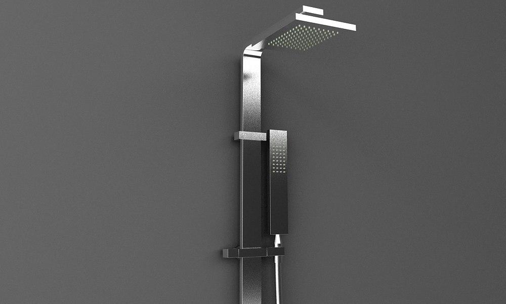 3d gessi shower fixture model