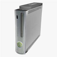 xbox 360 console 3d model