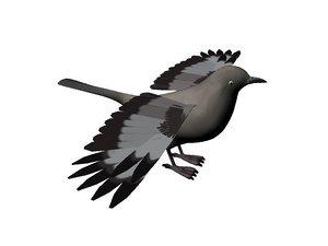 3d model crow bird
