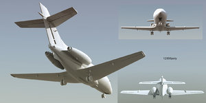 aerospace hs 125 dominie 3d model