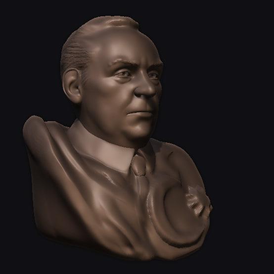 haydar aliyev bust 3d obj