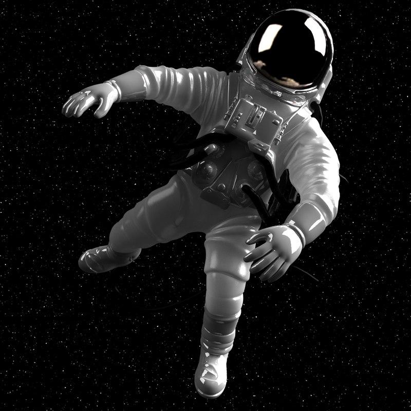astronaut astronaught 3d 3ds