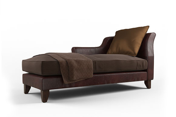 3d baker sensei chaise lounge model