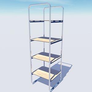 stylish office shelving unit 3d model