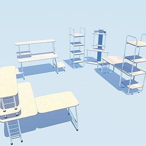 3d office furniture stylish model