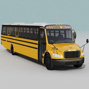 3d school bus c2