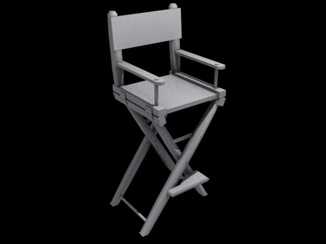 3d director s chair